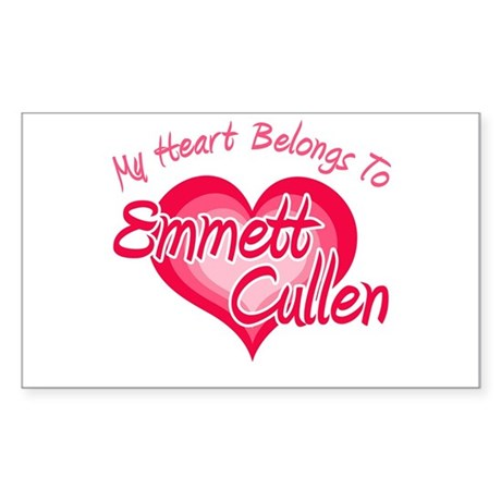 Emmett Cullen Heart Rectangle Sticker 10 pk)
