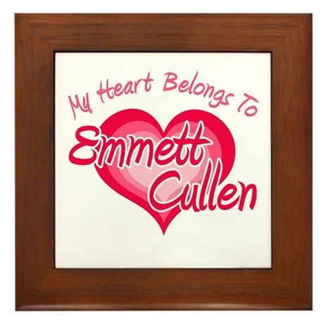 Emmett Cullen Heart Framed Tile