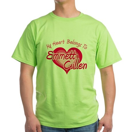 Emmett Cullen Heart Green T-Shirt