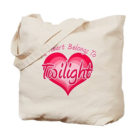 Heart Belongs Twilight Tote Bag