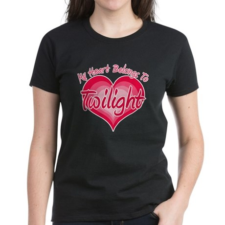 Heart Belongs Twilight Women's Dark T-Shirt