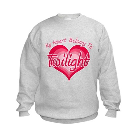 Heart Belongs Twilight Kids Sweatshirt