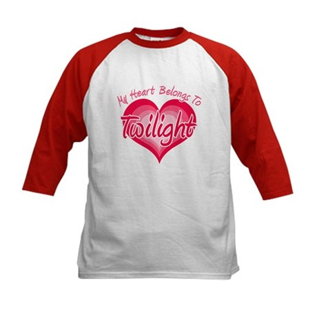 Heart Belongs Twilight Kids Baseball Jersey