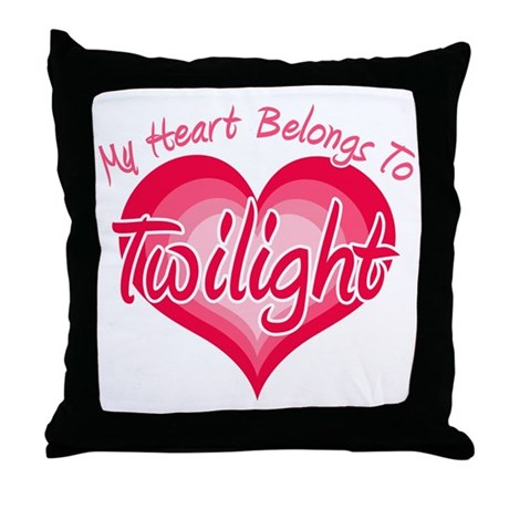 Heart Belongs Twilight Throw Pillow