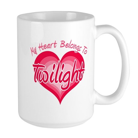 Heart Belongs Twilight Large Mug