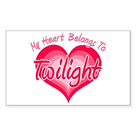 Heart Belongs Twilight Rectangle Sticker