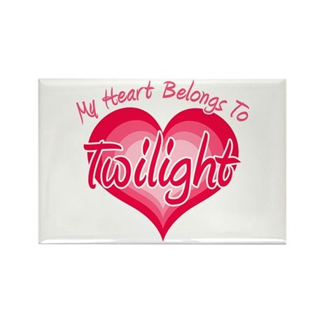 Heart Belongs Twilight Rectangle Magnet (100 pack)