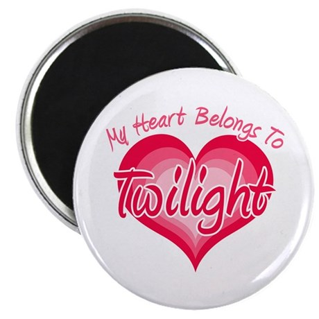 "Heart Belongs Twilight 2.25"" Magnet (100 pack)"
