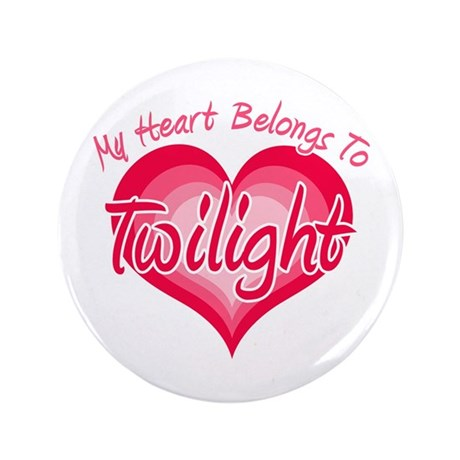 "Heart Belongs Twilight 3.5"" Button"