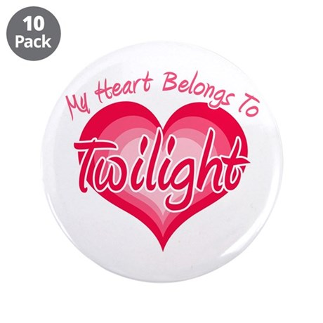 "Heart Belongs Twilight 3.5"" Button (10 pack)"