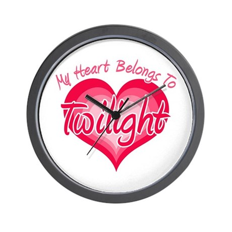 Heart Belongs Twilight Wall Clock