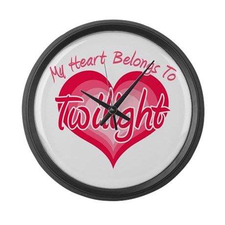 Heart Belongs Twilight Large Wall Clock