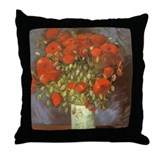 Van Gogh Red Poppies Throw Pillow