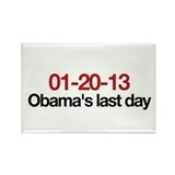 01-20-13 Obama's last day Rectangle Magnet (10 pac