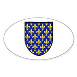 France: Heraldic Oval Decal