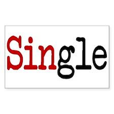 Single Rectangle Decal