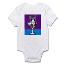French Bulldog Martini, B&W Infant Bodysuit