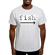 """Fish (arrow)"" Ash Grey T-Shirt"