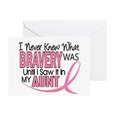Bravery (Aunt) Breast Cancer Support Greeting Card