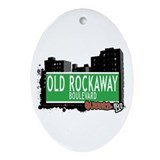 OLD ROCKAWAY BOULEVARD, QUEENS, NYC Ornament (Oval