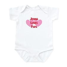 Papa Loves Jenna Infant Bodysuit
