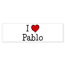 I love Pablo Bumper Sticker (50 pk)