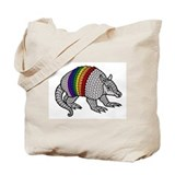 Texas Rainbow Armadillo Tote Bag