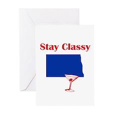 Stay Classy North Dakota Greeting Card