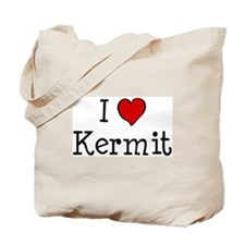 I love Kermit Tote Bag