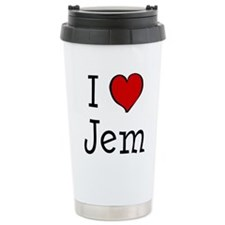 I love Jem Ceramic Travel Mug