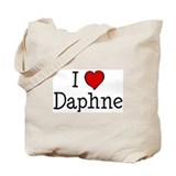 I love Daphne Tote Bag