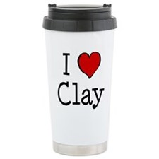 I love Clay Ceramic Travel Mug