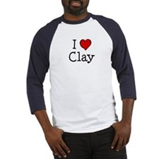 I love Clay Baseball Jersey