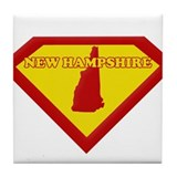 Super Star New Hampshire Tile Coaster
