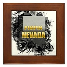 Pimpin' Nevada Framed Tile