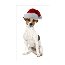 Jack Russell Terrier Xmas Rectangle Decal