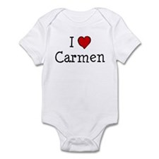 I love Carmen Infant Bodysuit