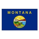 Beloved Montana Flag Modern S Rectangle Decal