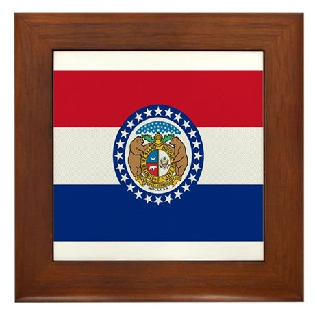 Beloved Missouri Flag Modern Framed Tile