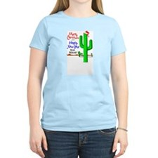 Texas Christmas Women's Pink T-Shirt