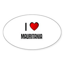 I LOVE MAURITANIA Oval Decal