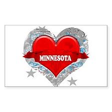 My Heart Minnesota Vector Sty Rectangle Decal
