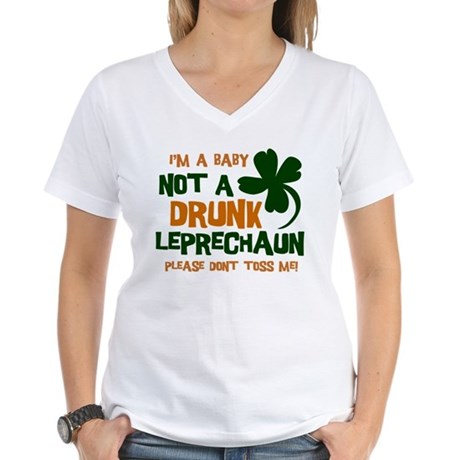 Baby Not Leprechaun Women's V-Neck T-Shirt