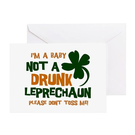 Baby Not Leprechaun Greeting Card
