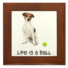Jack Russell Terrier Life Framed Tile