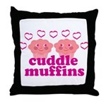 Cuddle Muffins Throw Pillow