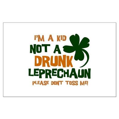 Kid Not Leprechaun Large Poster