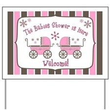 Babie's Shower - Twin Girls Yard Sign