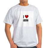 I LOVE LIBERIA Ash Grey T-Shirt