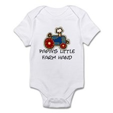 Papa's little farm hand Infant Bodysuit